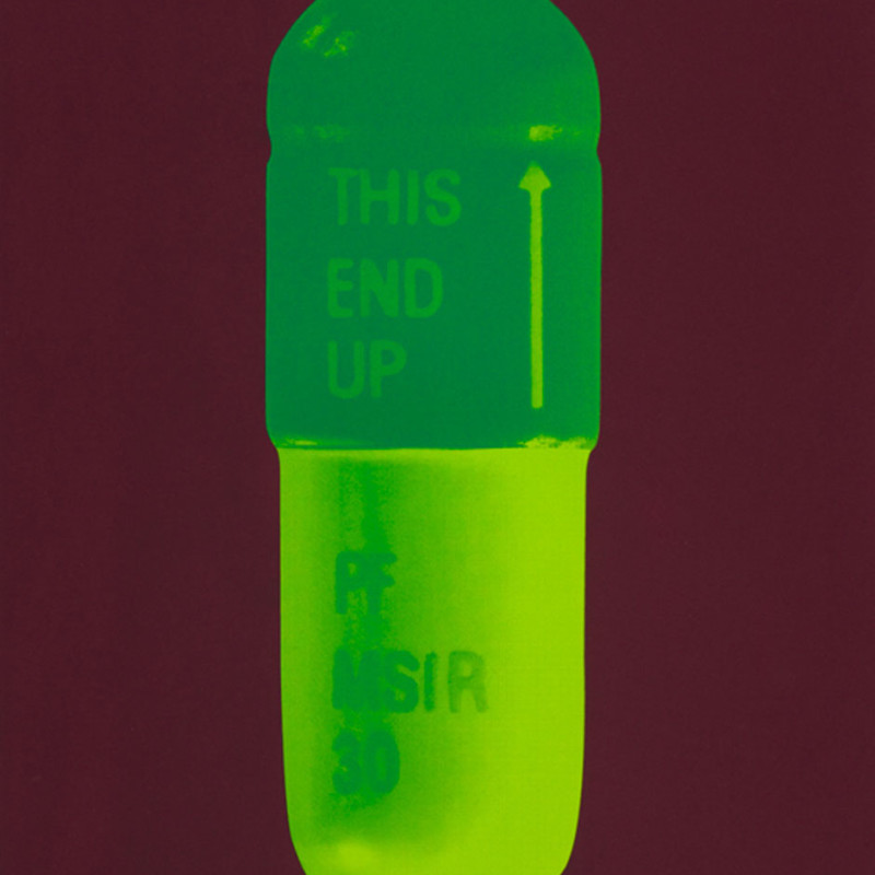 Damien Hirst, The Cure - Chocolate/Emerald Green/Lime Green