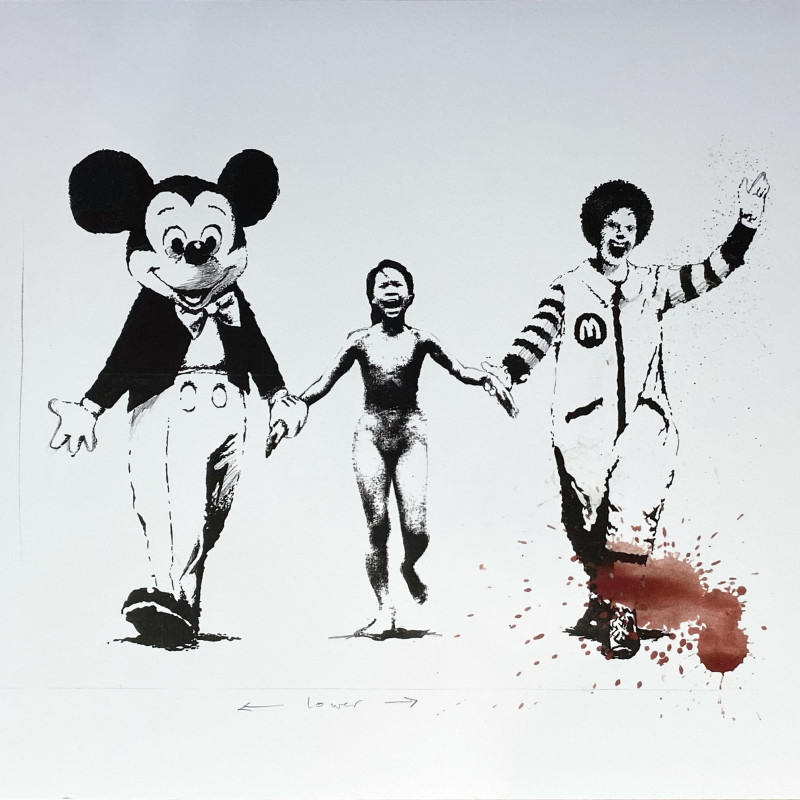 Banksy, Napalm (Can't Beat the Feeling) Serpentine Edition, 2006
