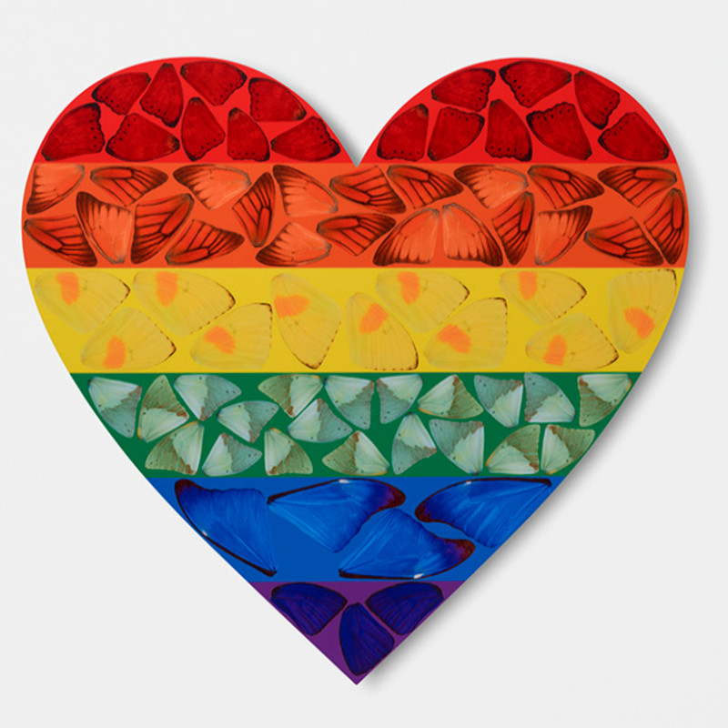 Damien Hirst, H7-4 Butterfly Heart (Small), 2020