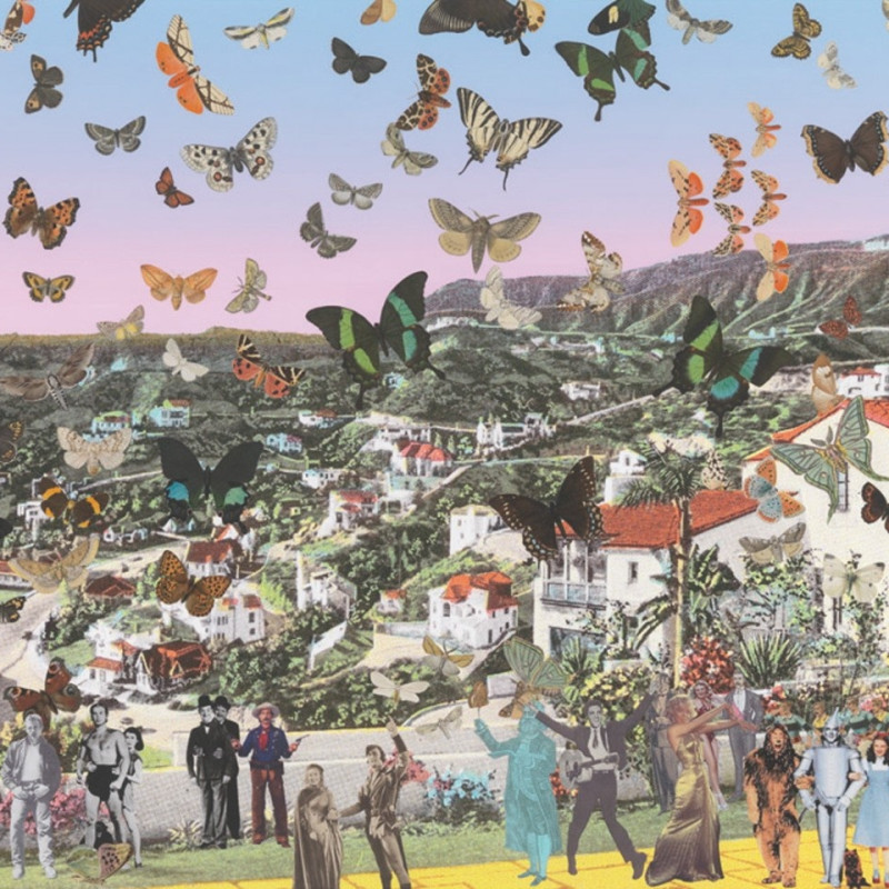 Peter Blake, Homage to Damien Hirst: The Butterfly Man Hollywoodland