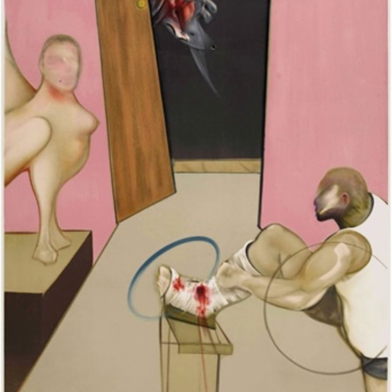 Francis Bacon, Oedipus & the Sphinx after Ingres
