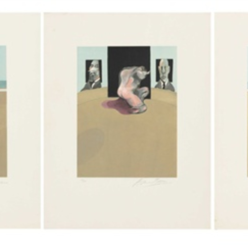 Francis Bacon, Metropolitan Triptych (Large Version)