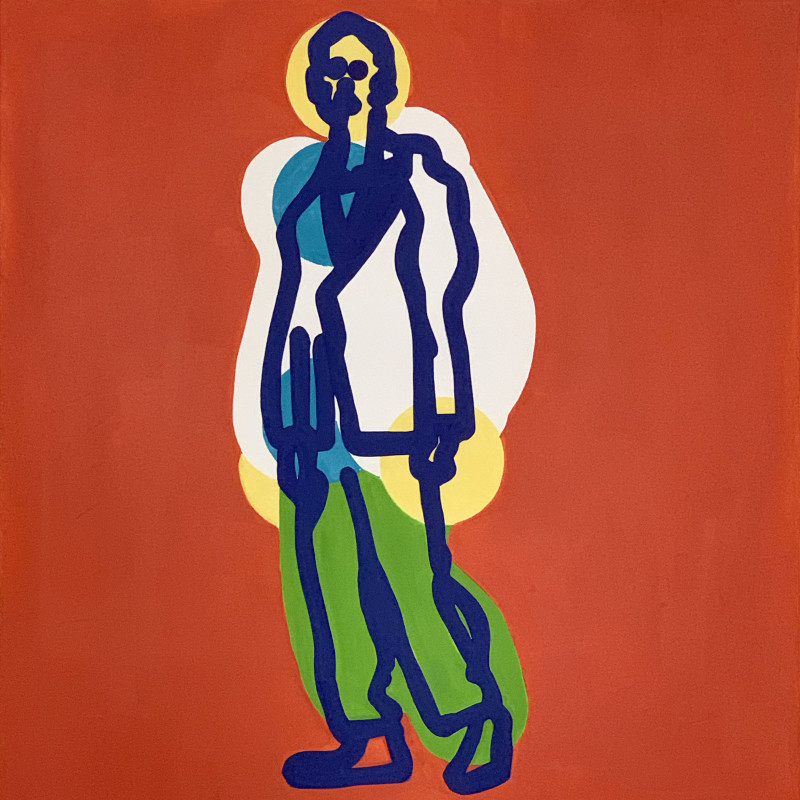 Toby Neilan, Figure on Orange, 2021