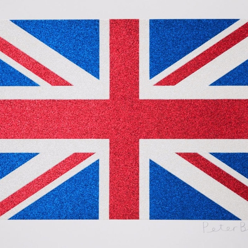 Peter Blake, Union Flag- Glitter