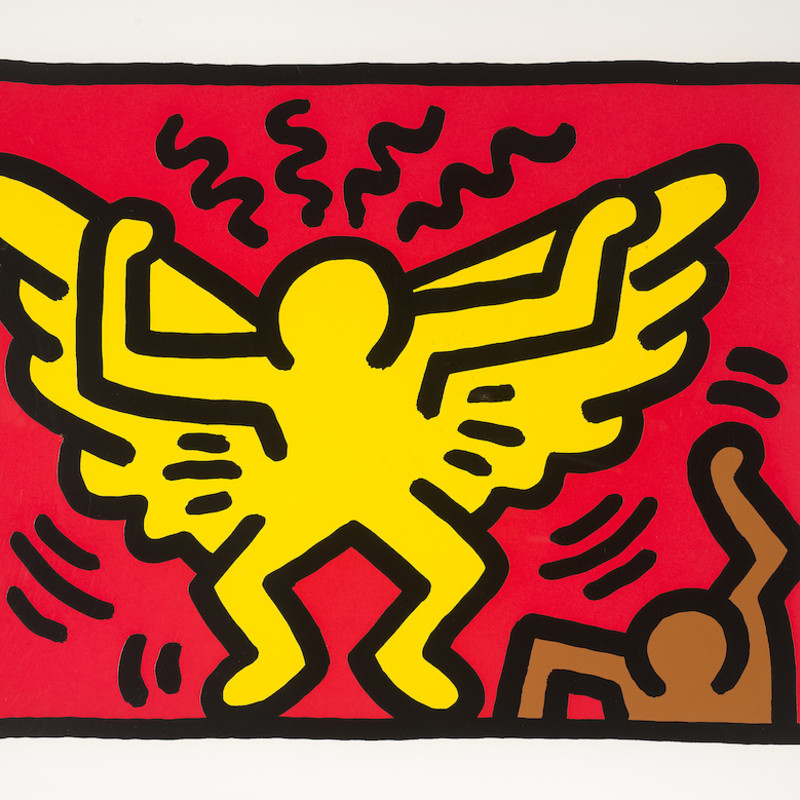 Keith Haring, Untitled (From Pop Shop IV), 1989