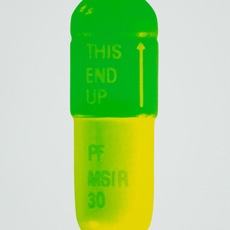 Damien Hirst, The Cure - Mint Blue/Apple Green/Lemon Yellow