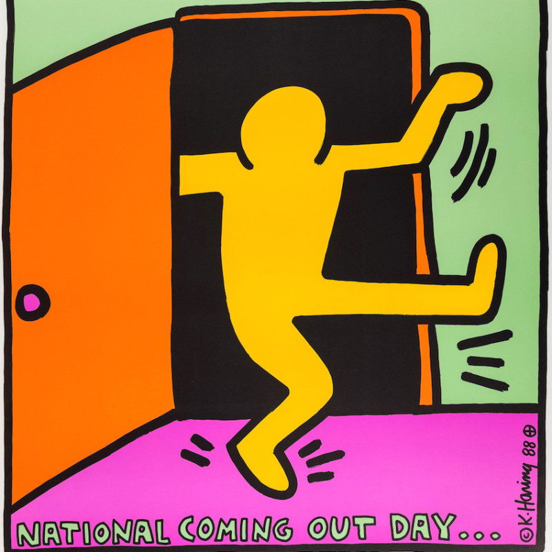 Keith Haring, First National Coming Out Day Poster, 1988