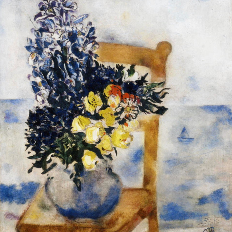 Marc Chagall - Flowers on a Chair, Mourillon