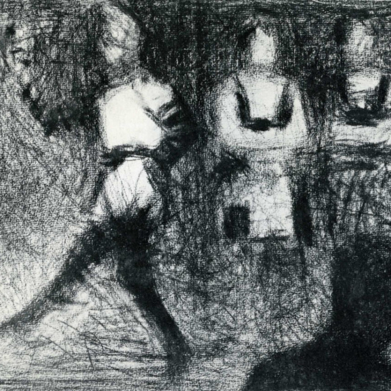 Georges Seurat - Saltimbanques , 1887