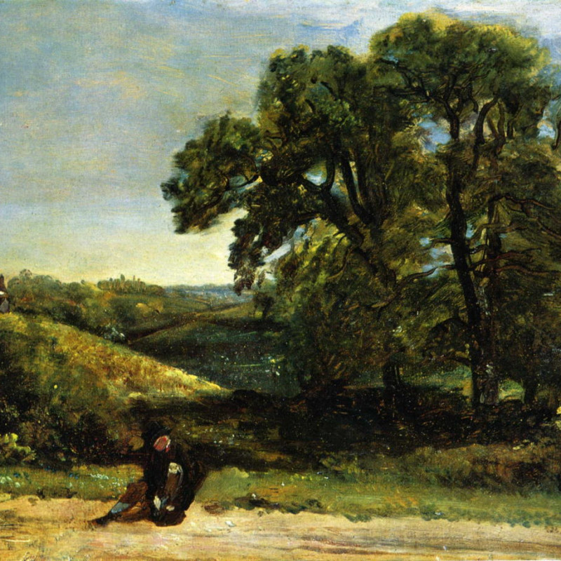 John Constable - The Traveller, c.1809