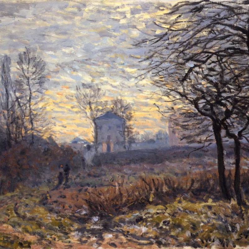 Alfred Sisley - Le Couple-Environs de Louveciennes , 1873