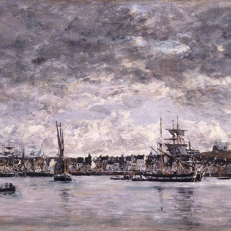 Eugene Boudin - Le Port at Camaret, 1872