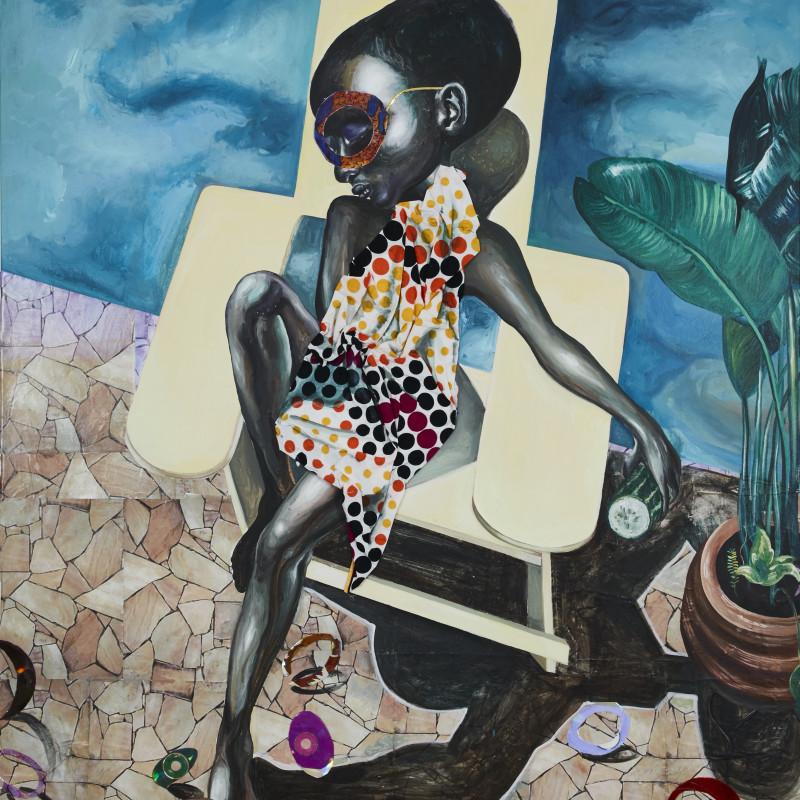<span class=&#34;artist&#34;><strong>Ndidi Emefiele</strong></span>, <span class=&#34;title&#34;><em>Poolside masturbator</em>, 2017</span>