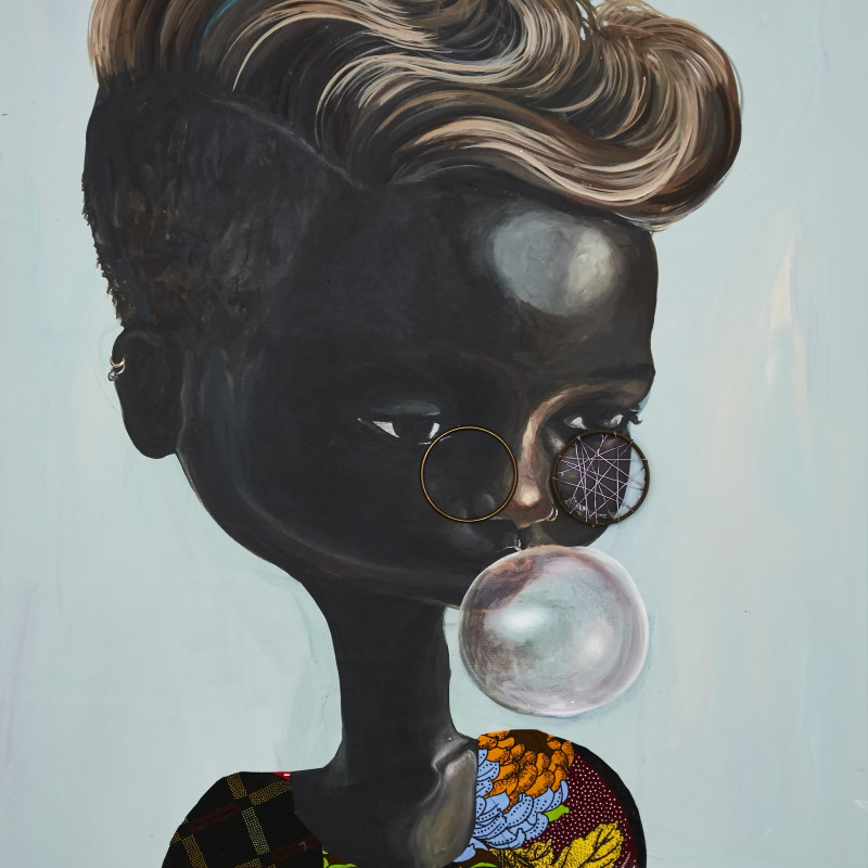 <span class=&#34;artist&#34;><strong>Ndidi Emefiele</strong></span>, <span class=&#34;title&#34;><em>Sunday bubbles 3</em>, 2017</span>