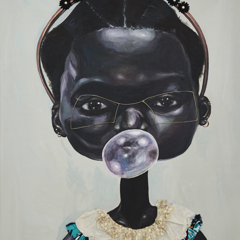 <span class=&#34;artist&#34;><strong>Ndidi Emefiele</strong></span>, <span class=&#34;title&#34;><em>Sunday bubbles 1</em>, 2017</span>