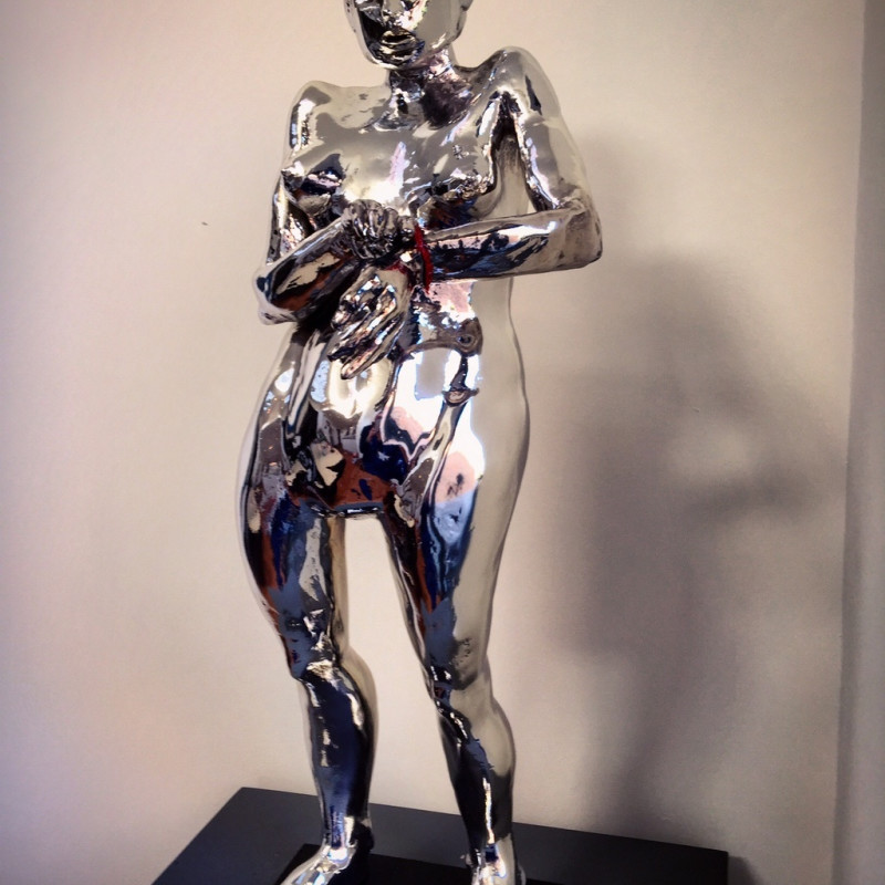 <span class=%22title%22>Silver Woman with Red Bracelet<span class=%22title_comma%22>, </span></span><span class=%22year%22>2015</span>