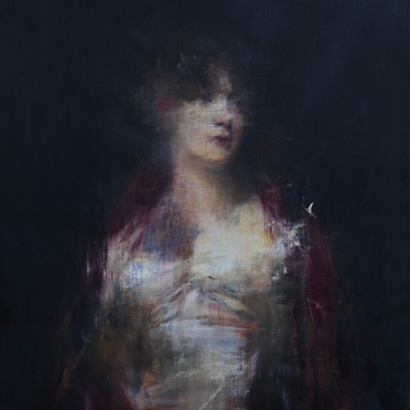 Portrait of a Woman in Red, after Sir Henry Raeburn, 2016