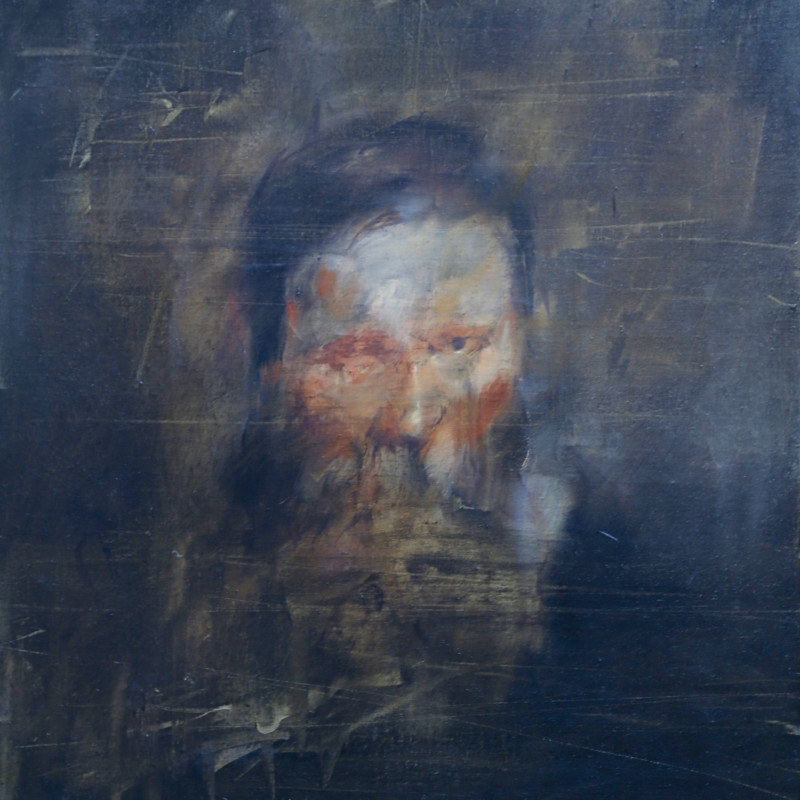 Jake Wood-Evans, Portrait of a man with a beard, after Rubens 2, 2017