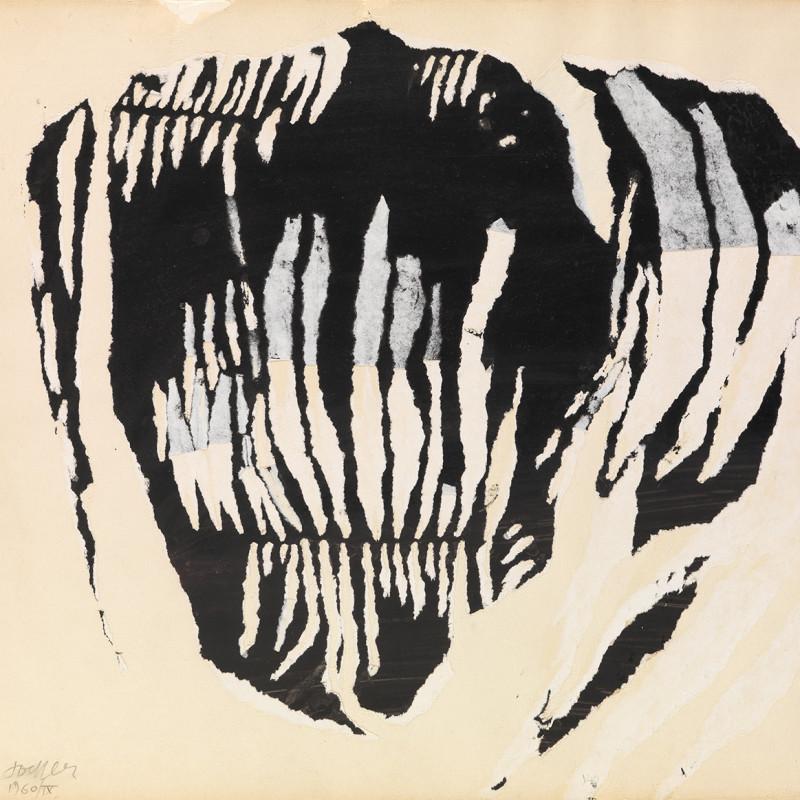 Reinhold Koehler, Décollage Positiv-Negativ 1960 IX, 1960