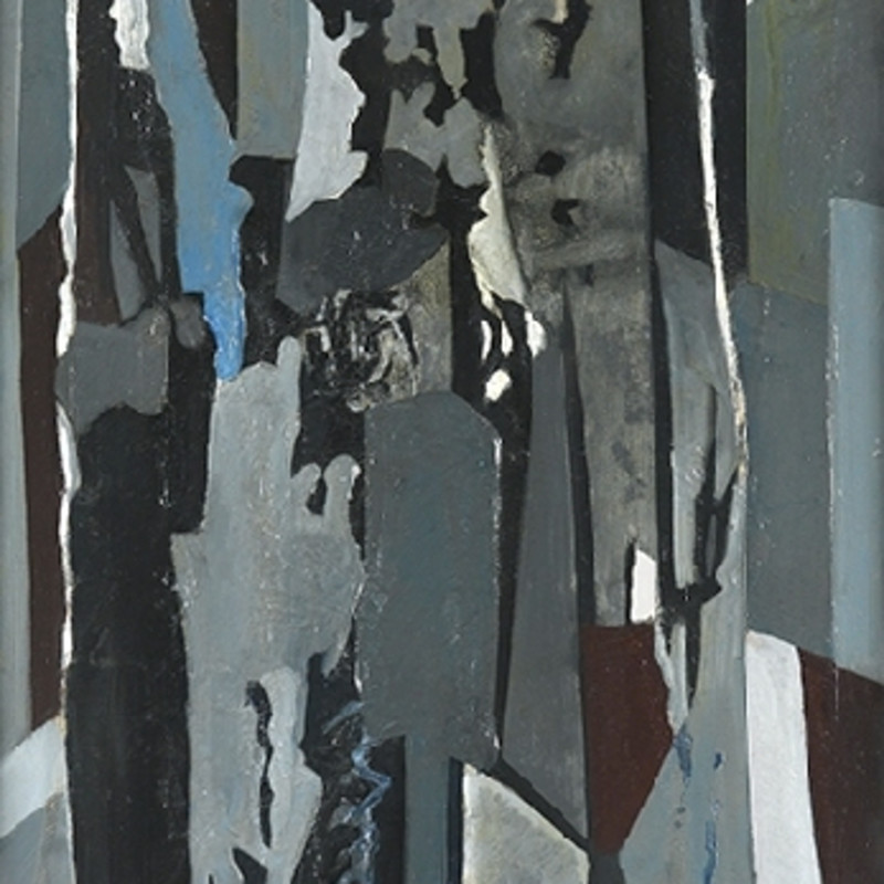 Caziel, WC243 - Composition no. 45, 1955