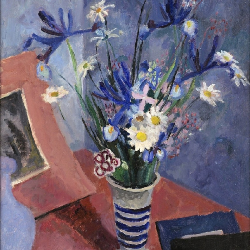 Mildred Bendall, Irises and Daisies, c. 1930