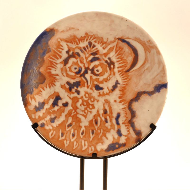 Jean Lurçat, Plate - Owl (Prototype), c. 1952