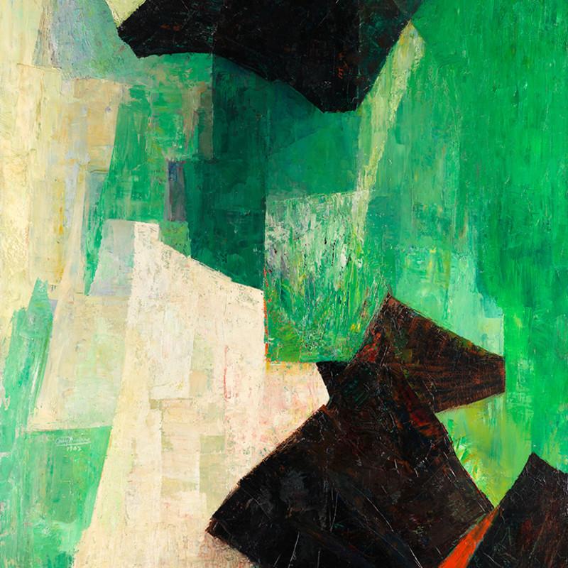 Joseph Lacasse, Dominante verte (Dia no. 524), c. 1956