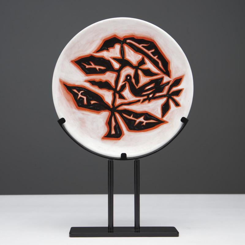 Jean Lurçat, Plate - White - Sparrow, c. 1955