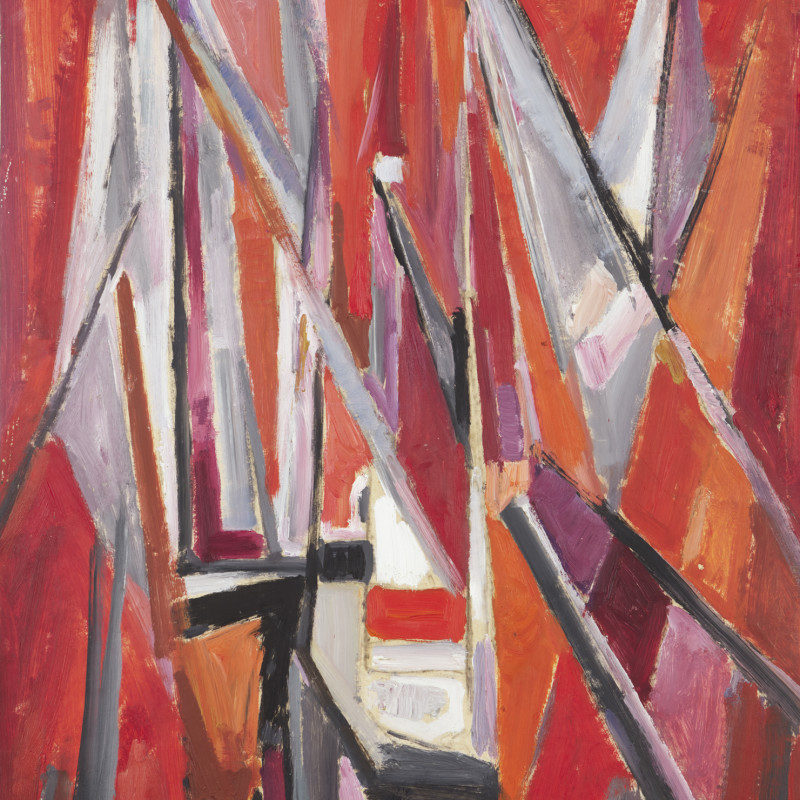 Mildred Bendall, Red Sails, c. 1955