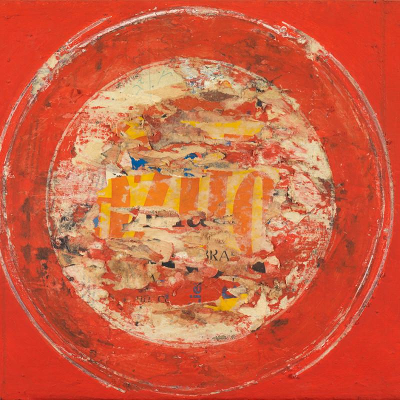 Reinhold Koehler  Décollage 1959 #78, 1959  Mixed media on canvas  31 x 41 cm  Estate stamp verso