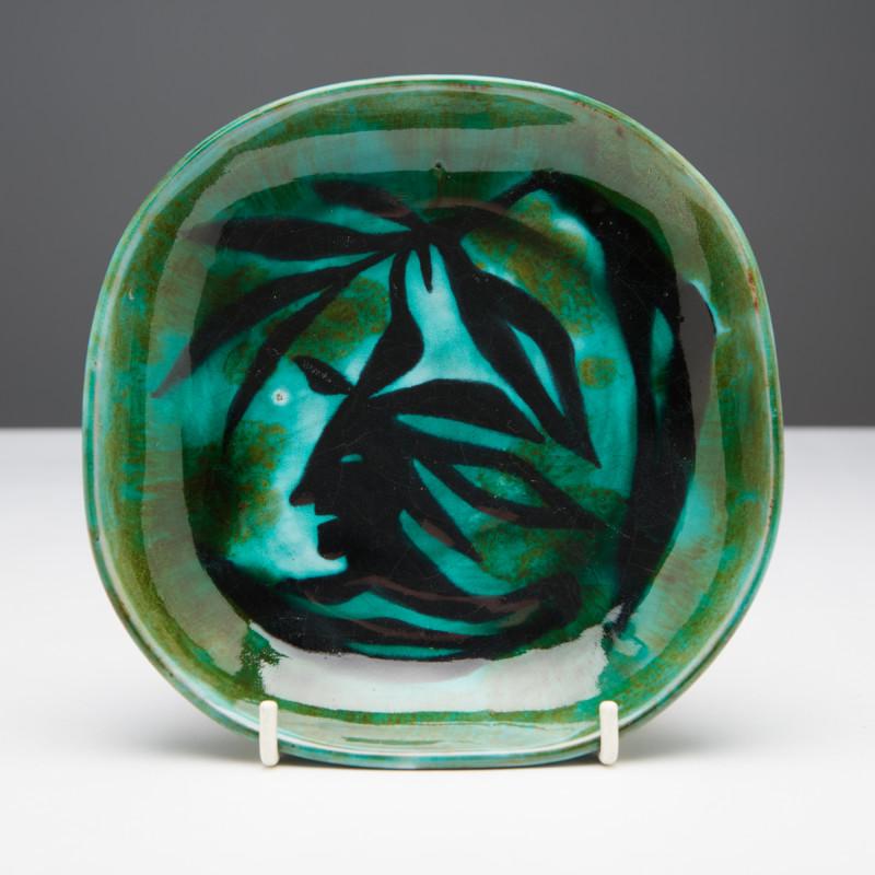 Jean Lurçat, Plate - Green - Tree Nymph, c. 1955