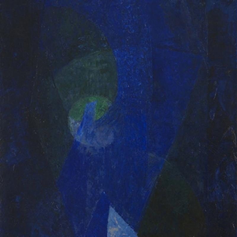 Joseph Lacasse, Dominante bleue (Dia no. 9235), 1955-56