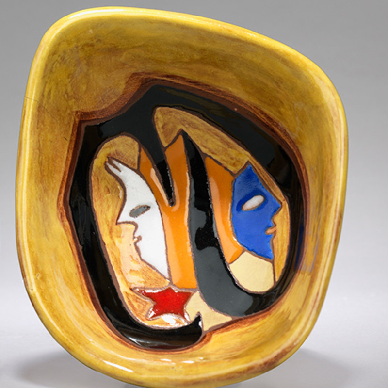 Jean Lurçat, Bowl - Vide poche - Yellow - Dawn, c. 1955