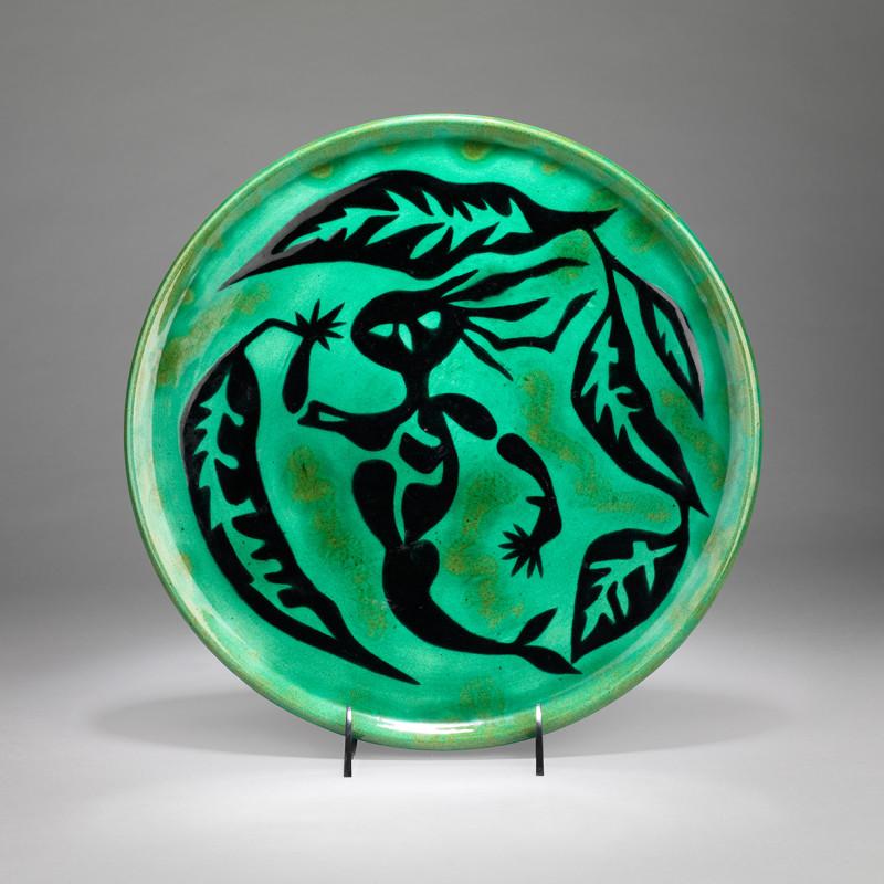 Jean Lurçat, Plate - Green - Ondine, c. 1955