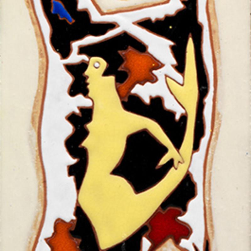 Jean Lurçat, Tile - Rectangular - White - Siren, c. 1955