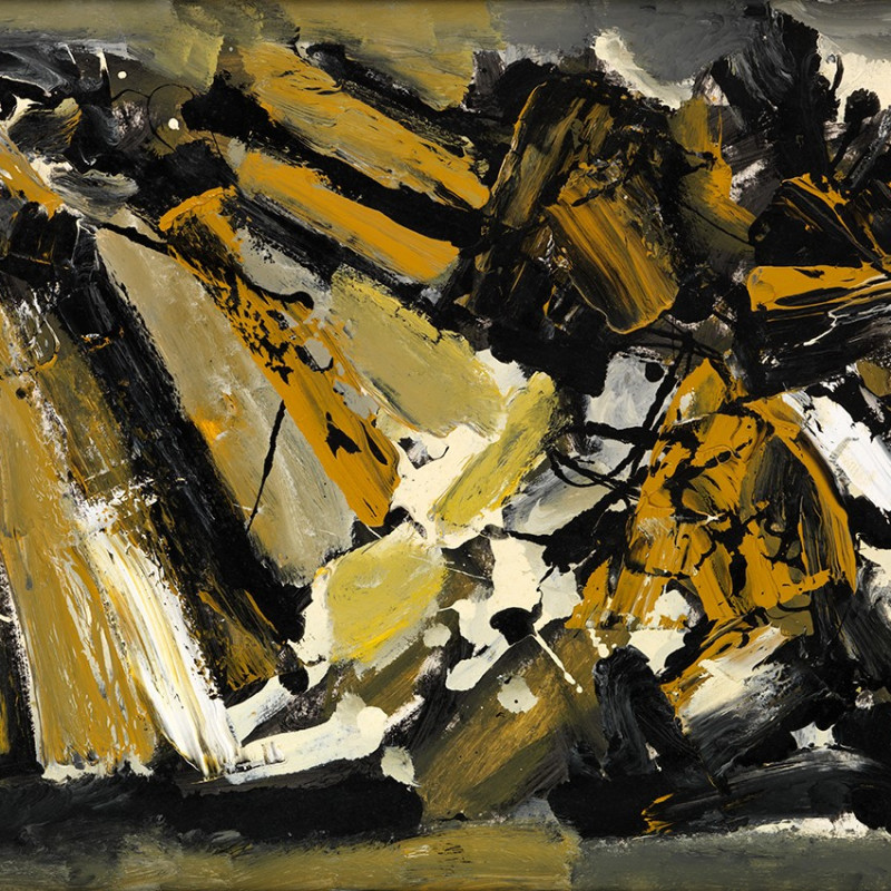 Frank Avray Wilson, FAW832 - Configuration in Ochre and Grey, c. 1957