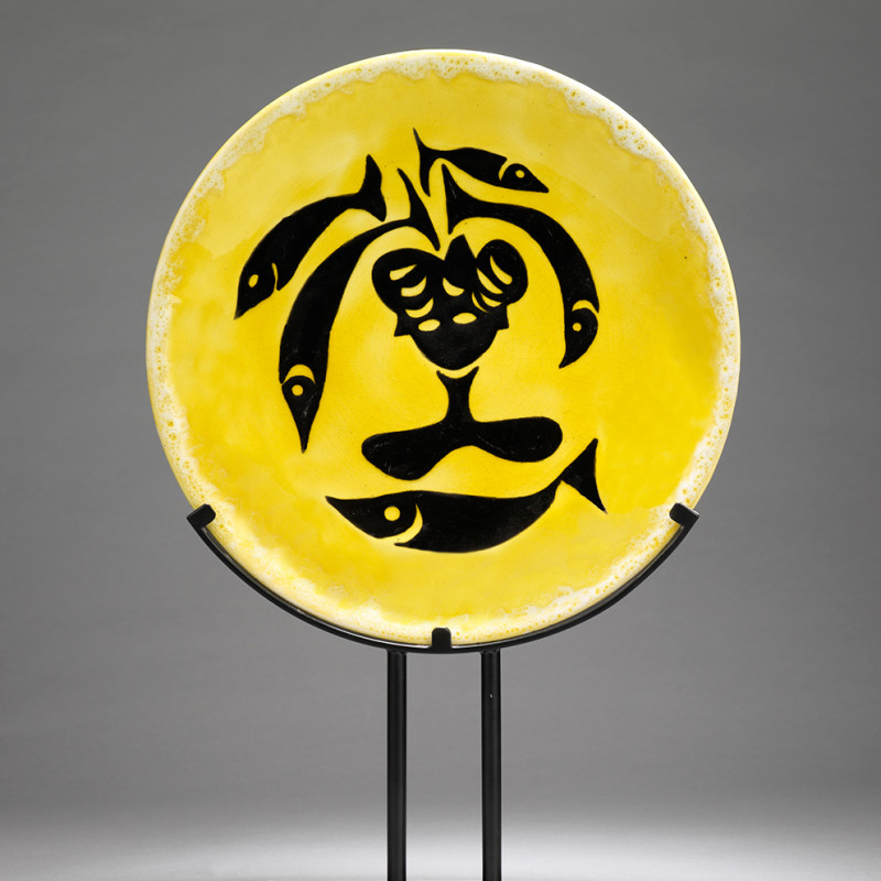 Jean Lurçat, Plate - Yellow - Sea Nymph, c. 1955