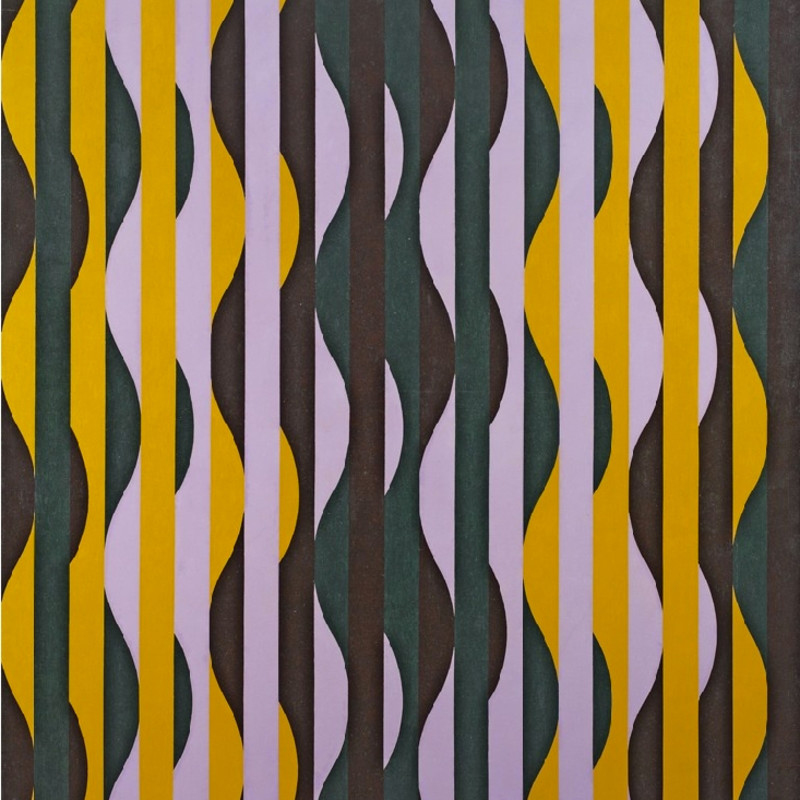 Michael Kidner, RA, Brown, Mauve, Green and Ochre, 1965