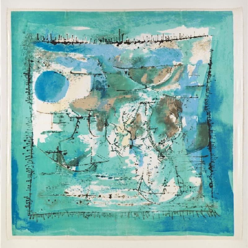 Zao Wou-Ki, Paysage Bleu, 1955