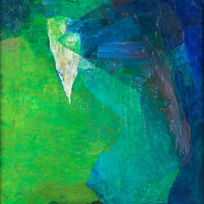 Joseph Lacasse, Dominante verte (Dia no. 1072), 1957-58