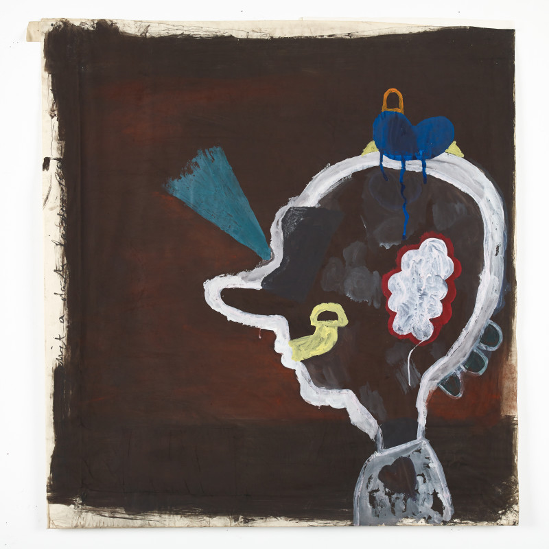 <p><span class=&#34;artist&#34;><strong>Eric Bainbridge</strong></span>, <span class=&#34;title&#34;><em>Idiot against a dark landscape</em>, 1980.</span></p>