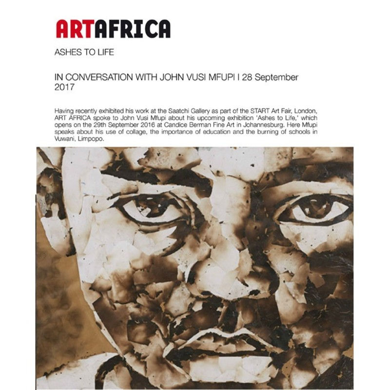 Ashes to Life | Art Africa In Conversation with John Vusi Mfupi