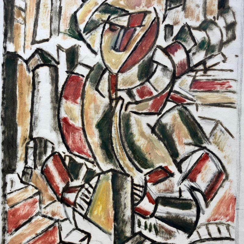 Marie Marevna (1892-1984) Study after Fernand Léger's 'Woman in Red and Green', 1914 Oil on paper