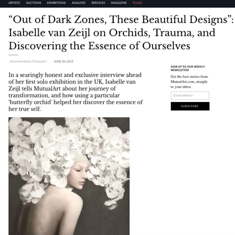 """Out of Dark Zones, These Beautiful Designs"": Isabelle van Zeijl on Orchids, Trauma, and Discovering the Essence of Ours"