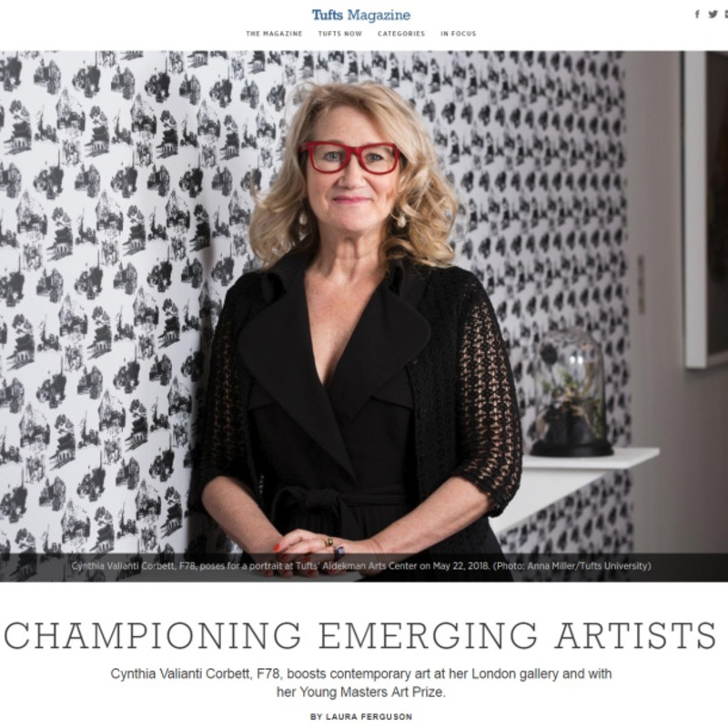 Cynthia Valianti Corbett Championing Emerging Artists in Tufts Magazine
