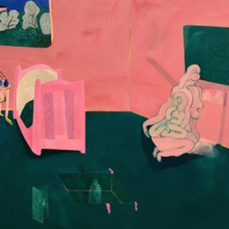 Tahnee Lonsdale Paints Surreal Domestic Scenes Inspired by Alice in Wonderland and Donnie Darko