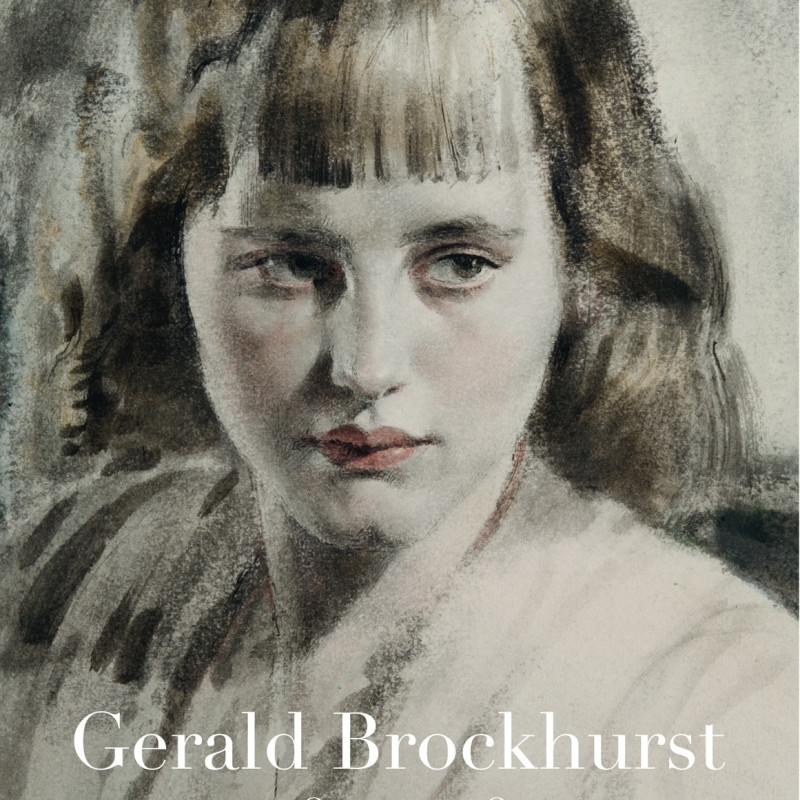 Gerald Brockhurst, Girl with bobbed hair. Watercolour and ink on paper, signed in pencil G.L. Brockhurst, lower right, 14 x 93⁄4 inches (35.5 x 25 cm)