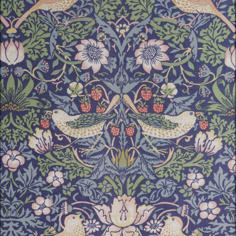 William Morris (1834-1896), Strawberry Thief, 1883. Pattern printed fabric