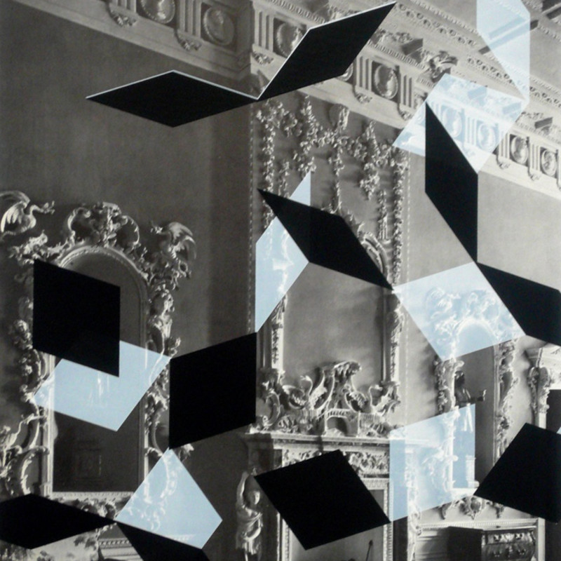 Rowena Hughes, Mirror, from the Contingent series, 2010 (detail). Inkjet print on a found book page