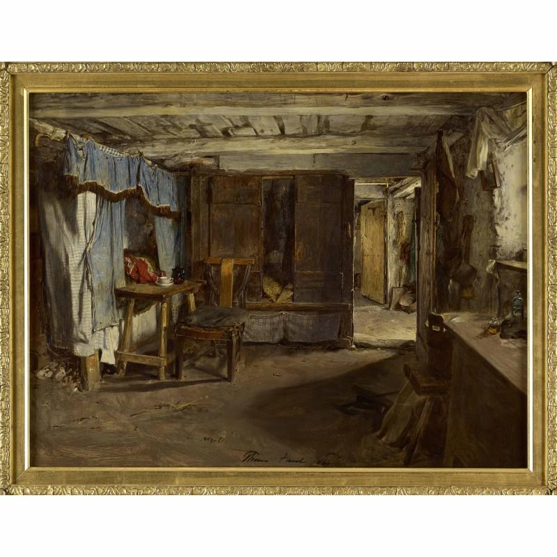 Square Thomas Faed ARSA RA | Croft Interior, 1865